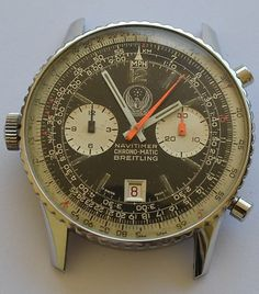 Vintage 1960 BREITLING NAVITIMER  Chronomatic - IRAQ Air Force - Rare!