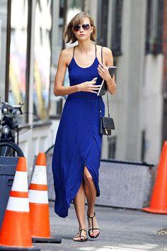The Summer Standard: Karlie Kloss Chic Celeb in Sundress, good basic.