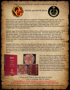 OrGano Gold Historical Collaboration with the Napoleon Hill Foundation and the World Learning Centre.