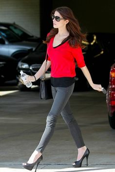 822863225c85 Seen on Celebrity Style Guide  Ashley Greene wore the J Brand Low-Rise Skinny  Leg Jeans in Dare while out running errands in North Hollywood February 2012