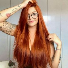 Red Hair Color : Orange Hair Long Straight Synthetic None Lace Wigs For Black Women Heat Resistant Fiber Glueless None Lace Synthetic Hair-Maycaur - Beauty Haircut Natural Red Hair, Long Red Hair, Black Hair, Beautiful Red Hair, Beautiful Redhead, Cheveux Oranges, Red Hair Color, Red Orange Hair, Ginger Hair Color