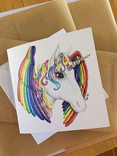 Unicorn Mandala Greeting Card Fantasy by TaniaLovesMandalas