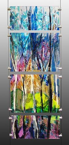 130 best Fused glass wall art images #StainedGlassAbstract