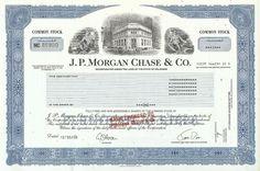 JPMorgan Chase Stock Certificate 2008