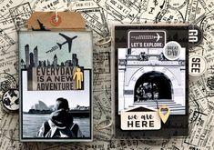 KC June -  'Let's Explore' Album pages 3 & 4 by Belinda Spencer DT for Kaisercraft using 'Just Landed' collection.