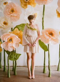 giant paper flowers photograph by elizabeth messina