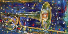Musical Instrument Wall Art - Painting - Trombone by Michael Creese Music Canvas, Canvas Artwork, Canvas Art Prints, Trombone, Art Studies, Buy Prints, Learn To Paint, Drawing, Abstract Art