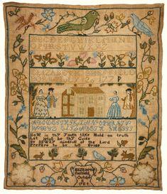 Rare needlework sampler, Elizabeth Sheffield (1771-?) Newport, Rhode Island, dated 1784