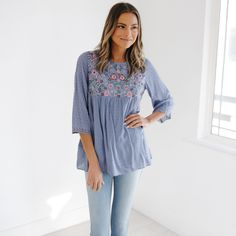 Journey Five | Anya Embroidered Top
