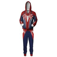 Unisex Spider-Man Cosplay Costume Zip Up Print Jacket Sweatshirt Pants Set Adult Costumes, Cosplay Costumes, Marshall Costume, Fancy Robes, Pikachu Hat, The Mask Costume, Storm Trooper Costume, Swimsuit With Shorts, Hippie Costume