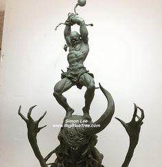 A design done at a workshop for Blizzard a couple weeks ago #simonlee #spiderzero #sculpture #sculptor #characterdesign #conceptdesign #workshop #blizzard #sculptlikespiderzero