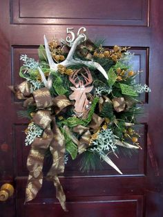 Gone Hunt'in Rustic country Christmas Wreath by County56Designs