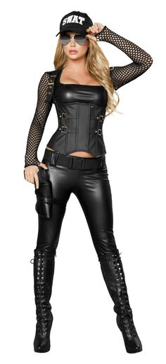 Sexy Police Costumes, Sexy Swat Costumes, Sexy Adult Costumes, Sexy Halloween Costumes Hubby would really like this ; Police Halloween Costumes, Most Popular Halloween Costumes, Adult Costumes, Costumes For Women, Women Halloween, Adult Halloween, Christmas Costumes, Female Cop Costume, Sexy Women