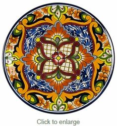 Talavera Dinner Plate. I really want this plate for decoration!