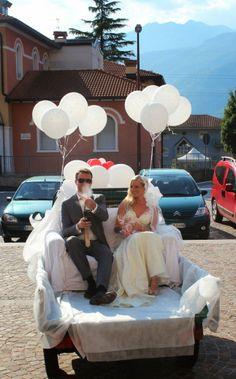 mariés remorque ballons fun