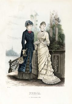 Fantastic collection of about 1000 Swedish fashion plates from the 19th century. On Wikimedia Commons from Nordiska Museet.