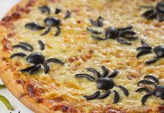 pizza niños con aceitunas