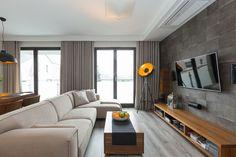 Dwupoziomowe mieszkanie w kolorach ziemi