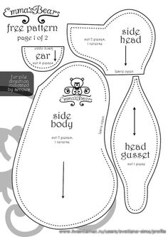 It's just a picture of Fabulous Memory Bear Sewing Pattern Free Printable