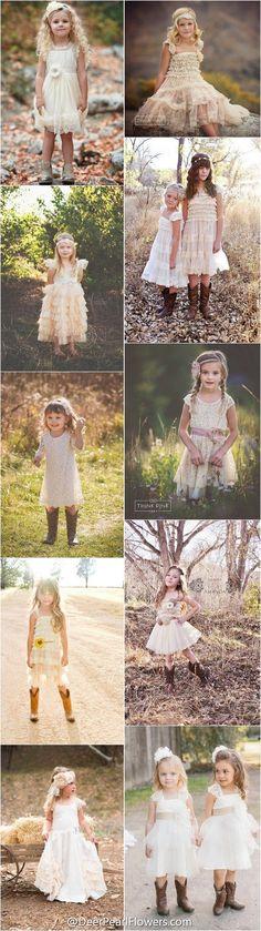 """rustic country wedding ideas - flower girl dresses / <a href=""""http://www.deerpearlflowers.com/flower-girl-dresses-for-country-weddings/"""" rel=""""nofollow"""" target=""""_blank"""">www.deerpearlflow...</a>"""