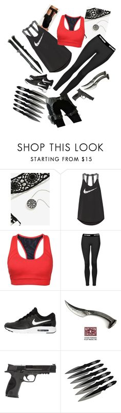 """""""Spider-Man's Sister"""" by shieldsb on Polyvore featuring Marvel, Skingraft, NIKE, Topshop and Smith & Wesson"""