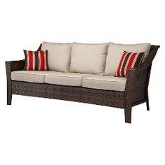 Threshold™ Rolston Wicker Patio 3-Person Sofa