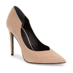 """KENDALL + KYLIE 'Abi' Pointy Toe Pump, 4 1/4"""" heel (1.840 ARS) ❤ liked on Polyvore featuring shoes, pumps, blush suede, suede shoes, pointy-toe pumps, stiletto pumps, high heel pumps and pointy toe stiletto pumps"""