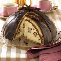 Schokoladen-Kuppeltorte mit Baumkuchencreme Rezept | LECKER