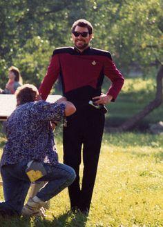 Hipster Number 1: Commander Riker, Star Trek: The Next Generation.