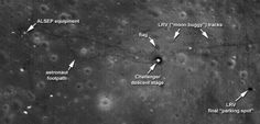 Le nitide tracce lunari delle missioni Apollo