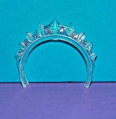 Vintage Barbie Reproduction FRANCIE #1284 MISS TEENAGE BEAUTY Clear TIARA Crown #Mattel #Accessories