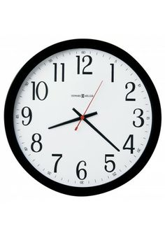 625-166 Gallery Wall, Howard Miller Wall Clock, Black Finished Case