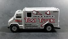 2002 Hasbro Maisto Tonka Ike & Ian's Tool Truck Silver Grey Diecast Toy Car Vehicle https://treasurevalleyantiques.com/products/2002-hasbro-maisto-tonka-ike-ians-tool-truck-silver-grey-diecast-toy-car-vehicle #2000s #Hasbro #Maisto #Tonka #Ike #Ian #Tools #Trucks #Vans #Silver #Grey #DieCast #Toys #Cars #Vehicles #Autos #Automobiles #Collectibles #WorkTrucks #MustHaves #BuyNow