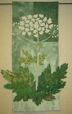 "Elena Folomeva to Textile Art Collective.  ""Cow parsnip"", 116х72 sm"