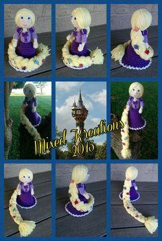 Rabbizdesigns ... Crochet Princess Rapunzel Doll