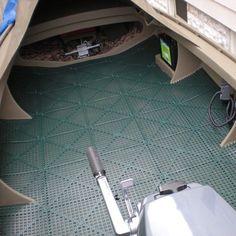 Masterful Dri-Dek installation by a duck boat customer.  www.Dri-Dek.com…
