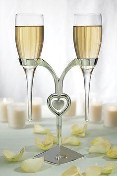 Flutes à champagne pour amoureux