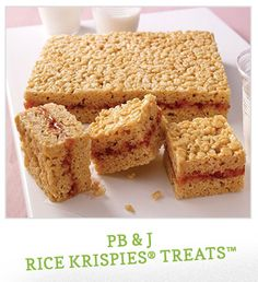 What  kid wouldn't love a PB & J Rice Krispie Treat! #CookingUpGood