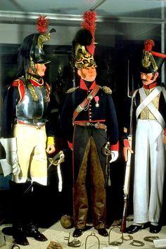French Napoleonic cavalry and infantry Майор кирасиров