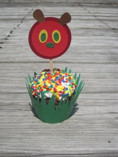 The Very Hungry Caterpillar Cupcake