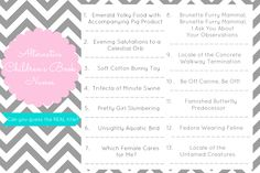 baby shower games - free printable downloads