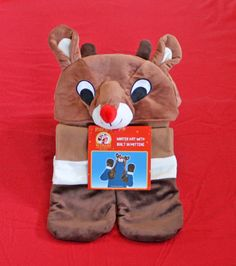 d4a93f3c89c5f Details about Dan Dee Rudolph   Island Misfit Toys Plush Reindeer Hat w   Mittens ~ Costume NWT. Reindeer HatRed Nosed ...