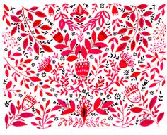 Dinara Mirtalipova. Pattern. Estampado floral. http://perfectodia.blogspot.com.es