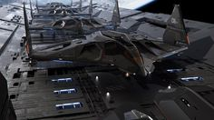 Aegis Eclipse Stealth Bomber - flight line