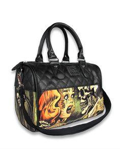 Liquor Brand Damen HORROR Handtasche/Bags.Tattoo,Oldschool,Pin up,Biker Style