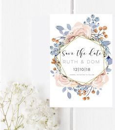 Excited to share the latest addition to my #etsy shop: Save the Date magnet-Floral Wreath Save the Date-Custom save the date-Rustic save the date-Wedding magnet-Save the Date postcard magnet #weddings #invitation #pink #white #postcardmagnet #floralwreath #weddingmagnet #customsavethedate #rusticsavethedate