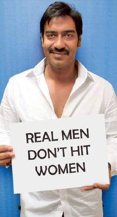 Ajay Devgan latest Photoshoot for Real Men Don't Hit Women