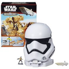 Hasbro Year 2015 Star Wars Micromachines The Force Awakens FIRST ORDER STORMTROOPER Playset with Poe Dameron and 1st Order Transporter Microfigures
