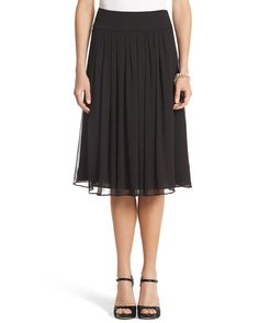 White House | Black Market Soft Pleated Skirt
