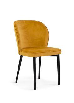 #homedecor #homedesign #interiordesign #decoration #yellow #chair #design Dining Chairs, House Design, Interior Design, Metal, Furniture, Home Decor, Chair Design, Yellow, Decoration